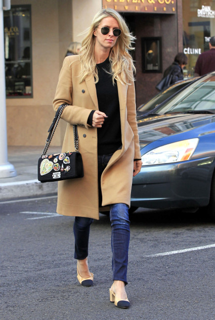 Nicky Hilton in Beverly Hills, California on January 7, 2016. en la foto : bolso de la firma