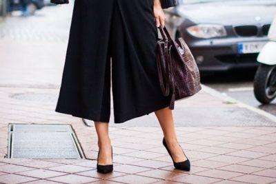 Pantalones-culotte-con-zapatos-de-tacón